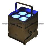 LED con pilas sin hilos Uplights 4X12W RGBWA+UV 6 in-1