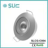 高い内腔LEDのキャビネットライト3W小型LED Downlighters白い円形LEDのキャビネットはつける照明設備(SLCG-A003)を