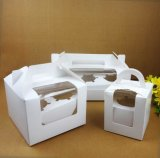 Paper Box 또는 Handle를 가진 Cake Box/Cupcake Packaging Box를 재생하십시오