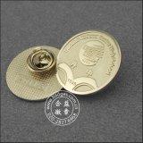 Kundenspezifischer organisatorischer Pin, Gold überzog Metallabzeichen (GZHY-CY-023)