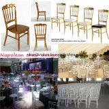 ホテルの食堂の銀製アルミニウムChiavariの結婚式の椅子