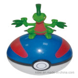 Giocattolo animale di plastica della sfera rotonda del PVC di modo del silicone dell'illustrazione del fumetto di Caldo-Vendita