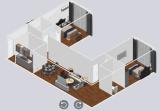 조립식 주택 컨테이너 하우스 빛 철강 구조 하우스