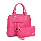 PU-Leder 2 PCS-Handtaschen-Fonds-gesetzte Krokodil-Frauen-Dame Designer Handbag