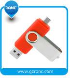 Firmenzeichen mobiler OTG anpassen USB-Speicher-Stock USB-grelles Feder-Laufwerk
