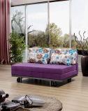 SitzDunlop der China-Möbel-zwei hölzernes Gewebe-Sofa mit Bett-Entwurf, modernes Sofa mit Bett-Entwurf