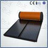 Calentador de agua solar cromado negro de la pantalla plana