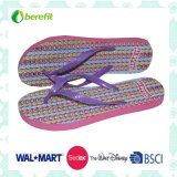 PE Slippers delle donne con PE Sole e PVC Straps, Beautiful Printing