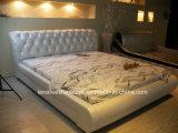 Meubles français en cuir modernes de la chambre à coucher A007