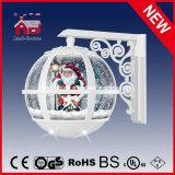 De sneeuwende Decoratie van de Kerstman van de Kleur van de Lamp van de Muur van Kerstmis Mooie Witte