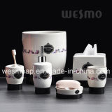 Negro conjunto de baño de porcelana de la etiqueta (wbc0453a)