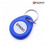 Material Lf do ABS & Tag chave RFID Keyfob do Hf para o controle de acesso