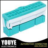 Connecteur automatique vert mâle PBT de harnais de câblage de connecteurs de harnais de câblage de jeep automobile
