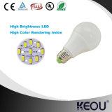 Preço competitivo Material de alumínio plástico E27 B22 Base A60 9W Lamp