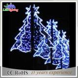 Luz ao ar livre da decoração de pólo de luzes do Natal do diodo emissor de luz