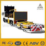1amber que anuncia o caminhão da placa montou os sinais variáveis Vms montados caminhão da mensagem
