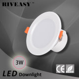 3W 2.5 인치 LED Downlight는 Ce&RoHS 천장 램프로 아래로 점화한다