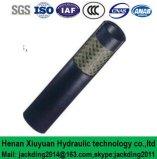 Boyau en caoutchouc hydraulique (non métallique) tressé par fibre simple de SAE DIN (ajustage de précision de pipe R6)