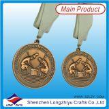 De douane In reliëf gemaakte Zwemmende Medailles van de Medaille van het Email van de Dolfijn