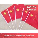 Таможня развевая флаг ручного полиэфира дешевый