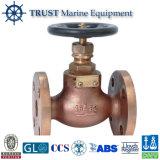 Soupape d'arrêt en bronze marine de robinet d'arrêt sphérique de vente chaude