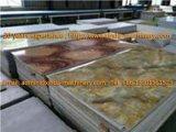 Feuille de PVC/chaîne production de marbre de panneau