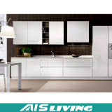 Cabina de cocina blanca del final del PVC Matt de la laca para los muebles (AIS-K084)