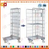 Recipiente Stackable de aço galvanizado do rolo do metal da gaiola do armazenamento do armazém (Zhra37)