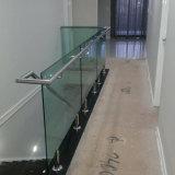 Sistema de vidro dos trilhos da escadaria do aço inoxidável