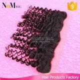Acessórios de cabelo humano encaracolado no Deep Deep Wave, em bruto, em bruto, em bruto 13X4