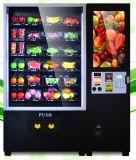 Fruta de la pantalla táctil del LCD de 32 pulgadas y máquina expendedora automática de la ensalada