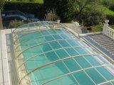 Dach-Bedeckung-Plastikpolycarbonat-Swimmingpool-Deckel