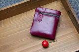 Raccoglitore di cuoio di primo strato della cera dell'olio breve nel colore rosso di vino