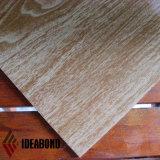 Matière composite en aluminium ignifuge d'Ideabond (séries en bois de regard)