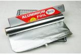 papel de aluminio del hogar de la categoría alimenticia de 8011-O 0.012m m para los pescados de la asación