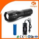 Linterna táctica G700 del zoom de aluminio recargable ultra brillante de Xml-T6 LED 18650
