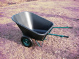 180L Lourd-rendement Durable Plastic Tray Wheelbarrow
