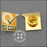 Krone Shape Lapel Pin Brass Badge mit Diamond (GZHY-LP-031)