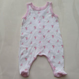 Printed unisex Cotton Triangle Romper Suit para Babies, Baby Clothing