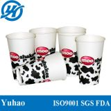 ふたが付いている習慣によって印刷される紙コップの使い捨て可能で冷たい飲み物のコップ12/16oz