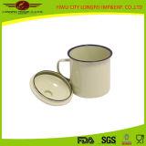 Chenp Enamel Mug con Enamel Hand/Lid
