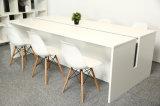 El último vector de conferencia del diseño, escritorio de oficina de 6 sillas, mesa de reuniones del MDF