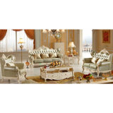 木の革ソファーが付いている居間の家具はセットした(536)