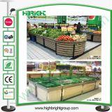 Hölzerne Supermarkt-Frucht-Gemüse-Bildschirmanzeige-Zahnstangen