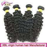 Extensões naturais peruanas do cabelo preto de cabelo humano