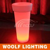 Bac de fleur en plastique d'éclairage LED pour Infoor et usage extérieur