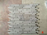 Bianco/Grey/Atene Wood Marble Mosaics per Interior Wall