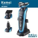 Rasoio elettrico ricaricabile lavabile professionale In1 4D di tocco 3 del sensore Kemei58892