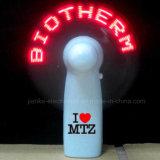 Vendita calda programmabile mini ventilatori con logo stampato a LED (3509)