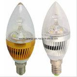E27 3W con la luz de aluminio de la vela del LED